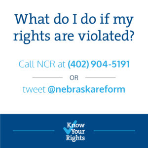 "Social media graphics are one of the ways the ""Know Your Rights"" campaign will reach out to Nebraska voters."