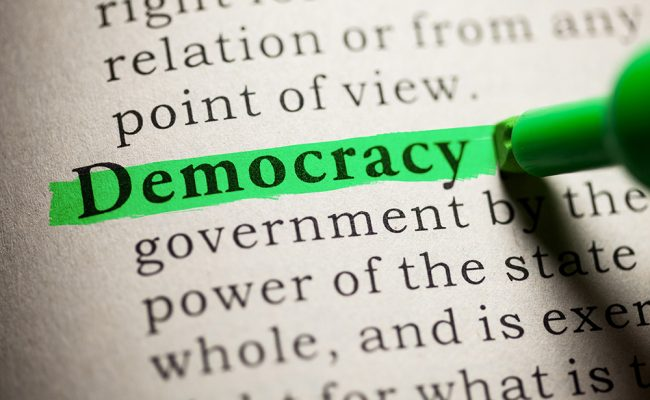 Fake Dictionary, definition of the word Democracy.